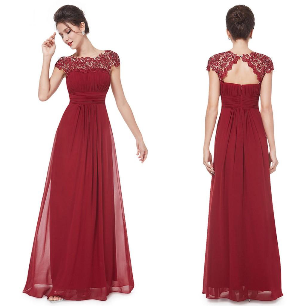 Платье цвета марсала