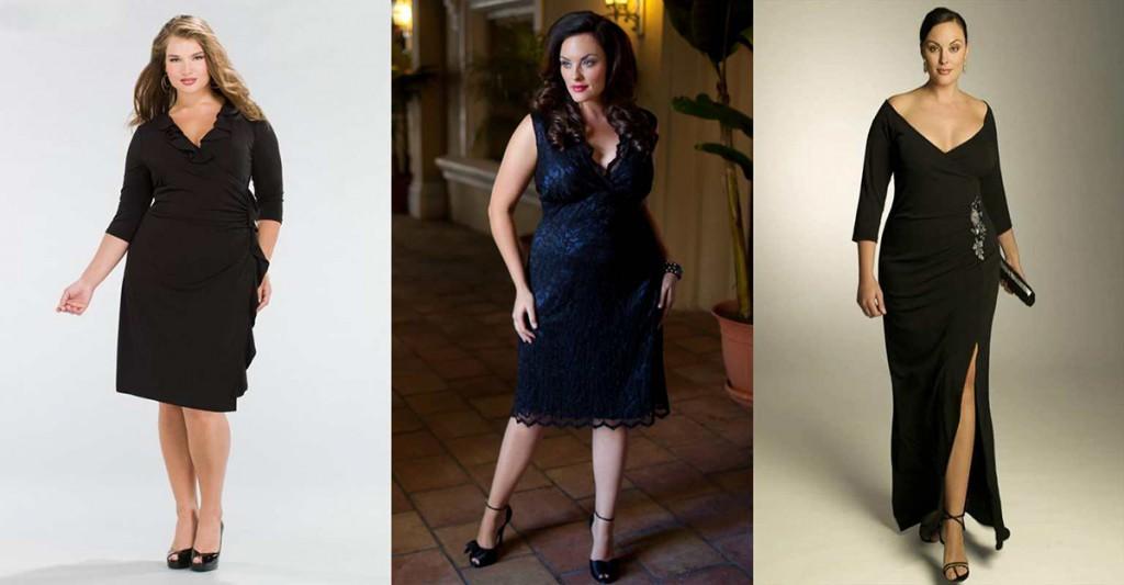 Красивые фасоны платьев для полных женщин