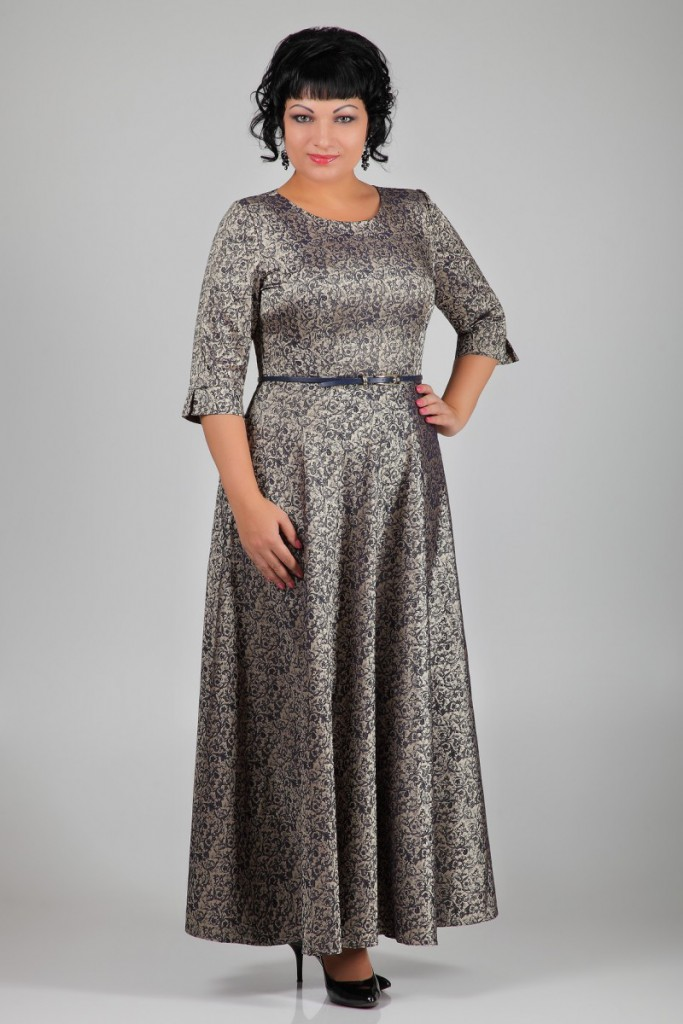 Длинное платье для полной девушки