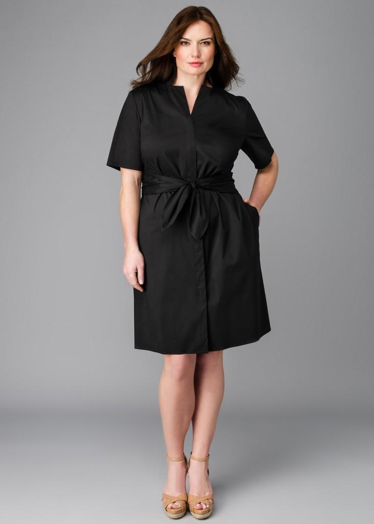 Черное платье для полной девушки