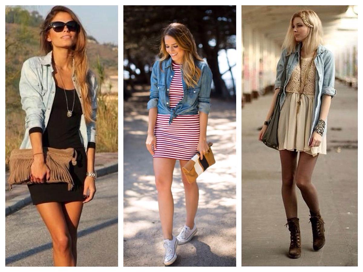 Что носить с платьем рубашкой