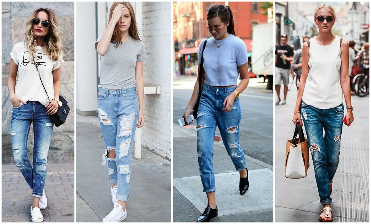 82375fa7045 С чем носить джинсы бойфренды в 2019 году ...
