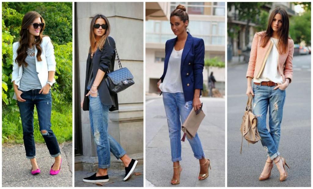 Бойфренды с различной одеждой