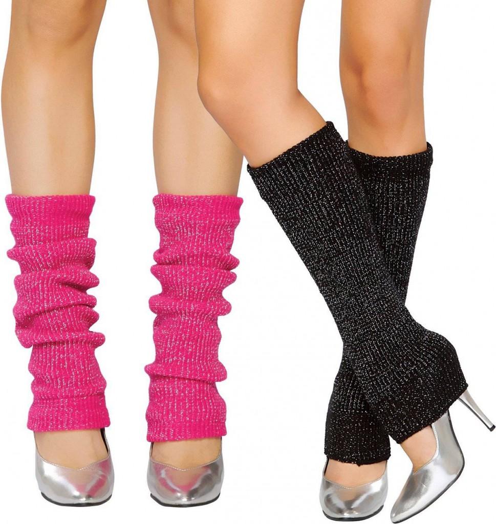 Гетры с серебристыми туфлями
