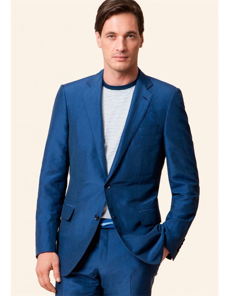 Голубой мужской пиджак