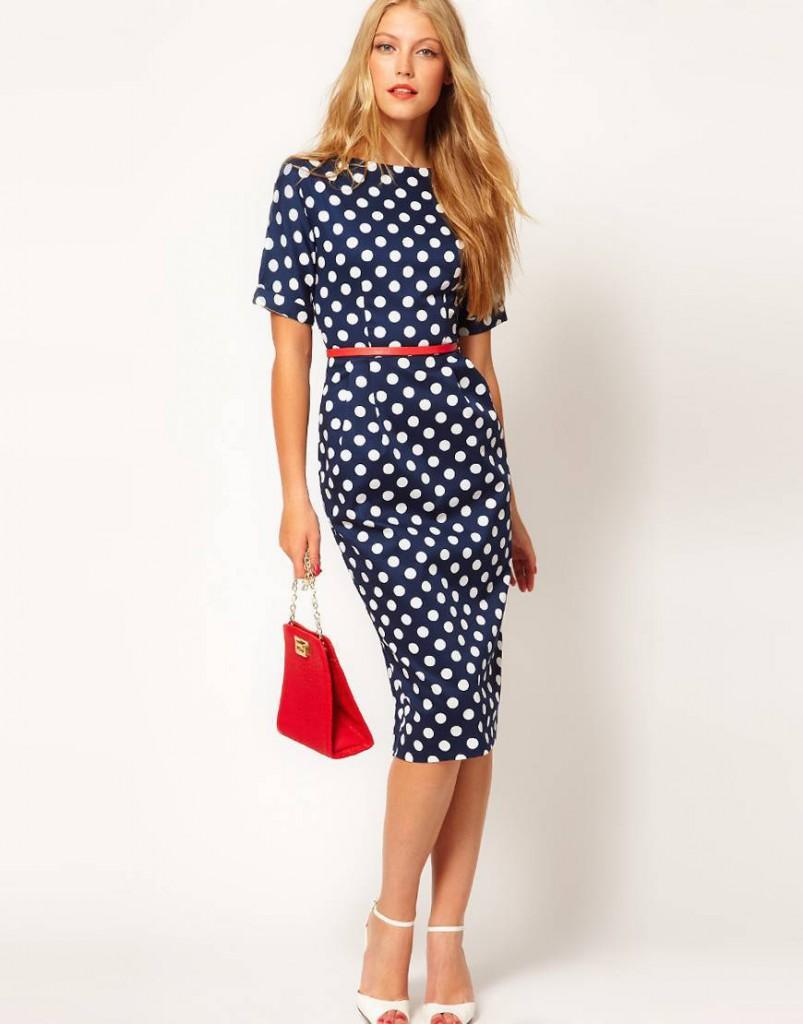 Синее платье в стиле New Look