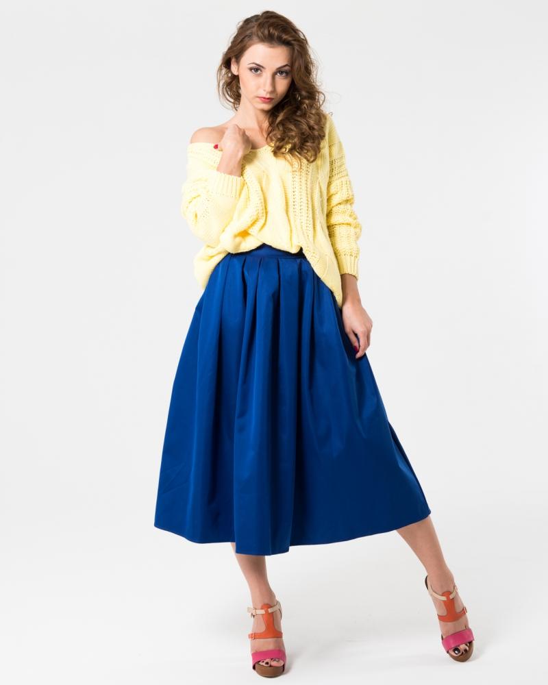 Синяя миди юбка солнце