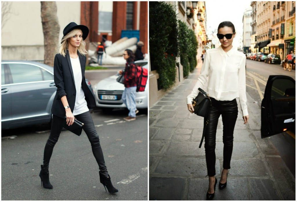 С чем носить женские кожаные брюки
