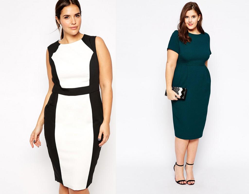 Модные офисные платья для полных женщин
