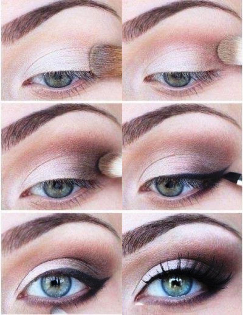 Макияж для серо-голубых глаз блондинок