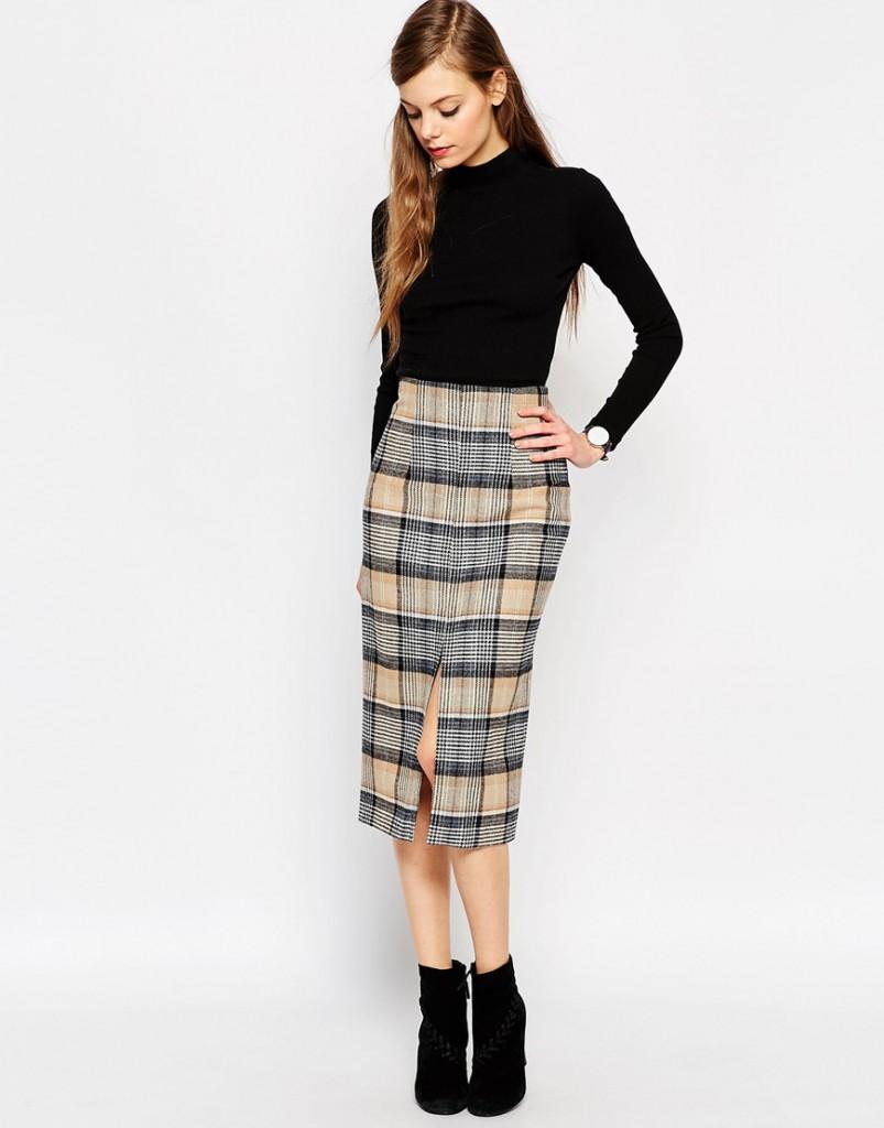 Драповая юбка-карандаш