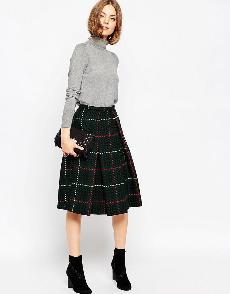 Теплая юбка из драпа