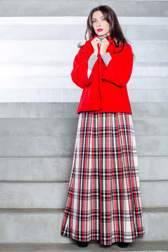 Длинная юбка из драпа