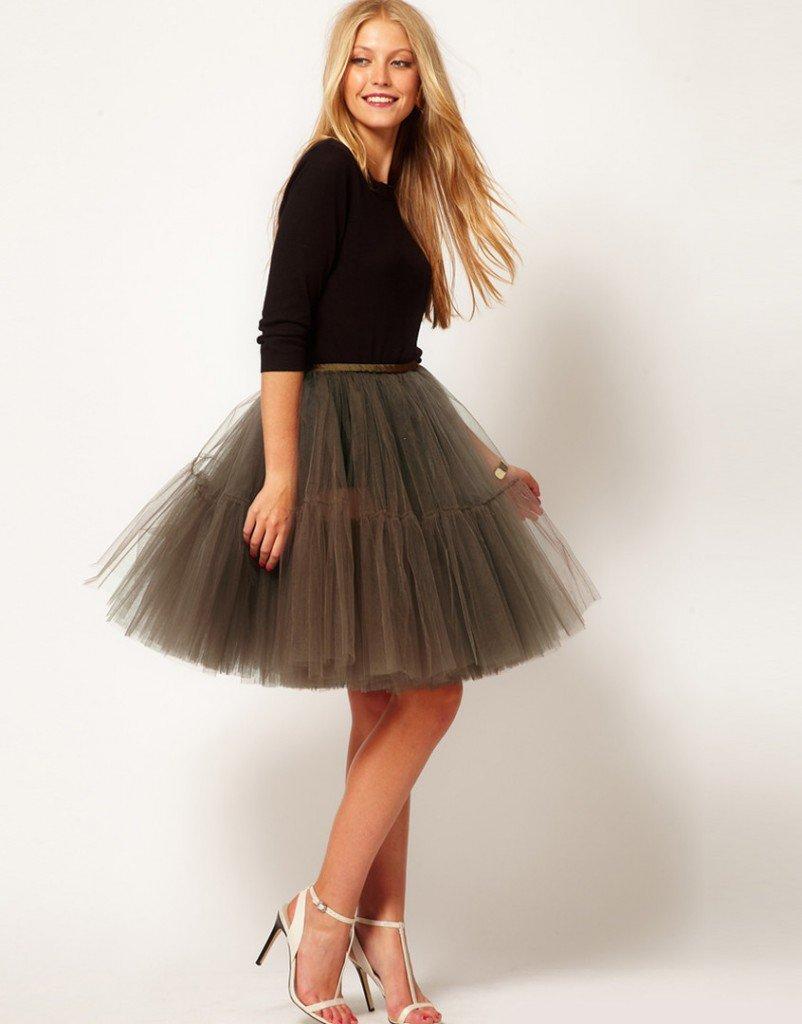 Пышная юбка со  складками