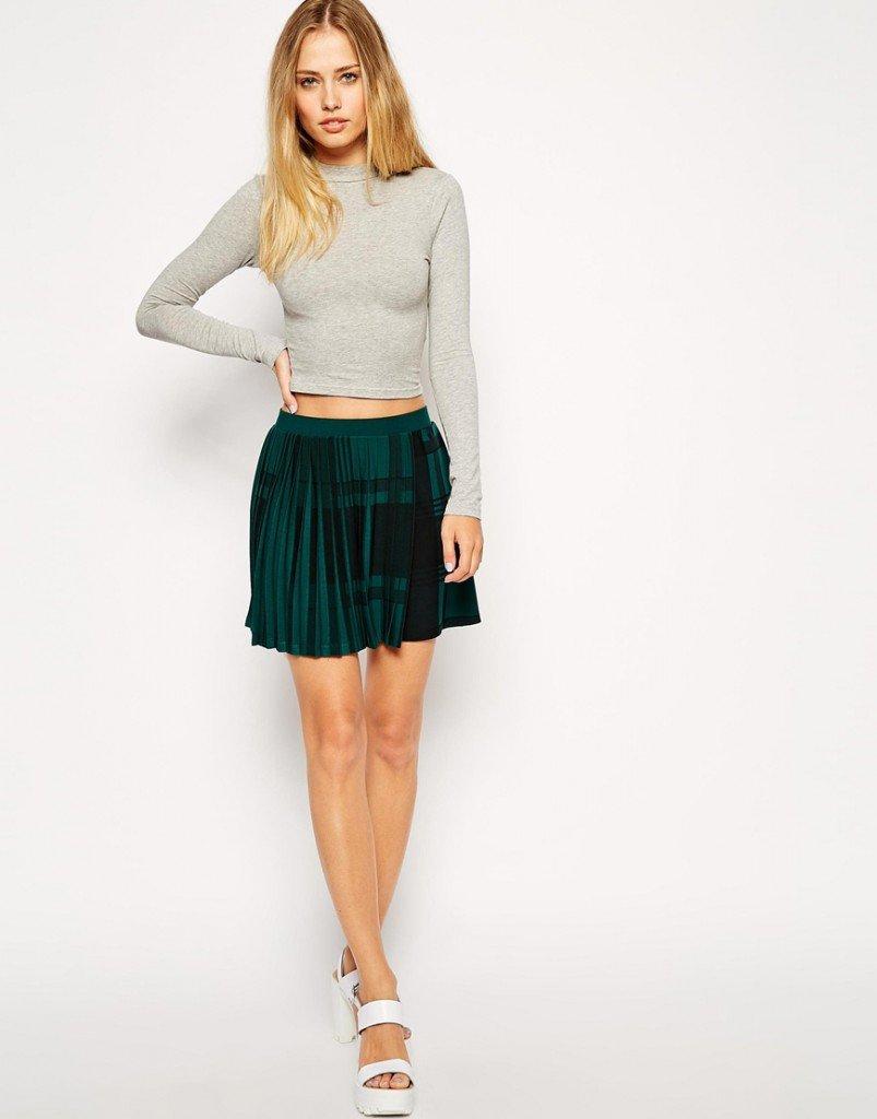 Плессированная юбка