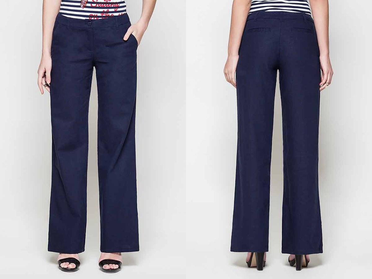 dce7c386f81 С чем носить женские летние брюки из льна ...