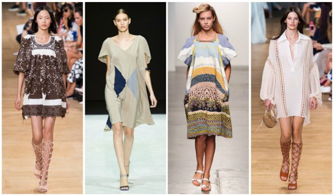 C чем носить модное платье балахон