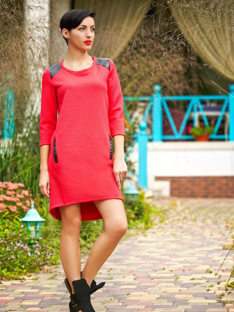 Красное платье балахон