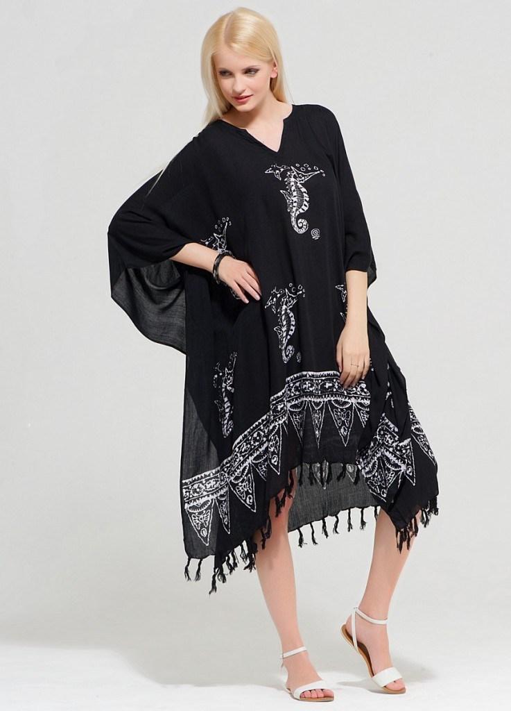 Черное платье балахон