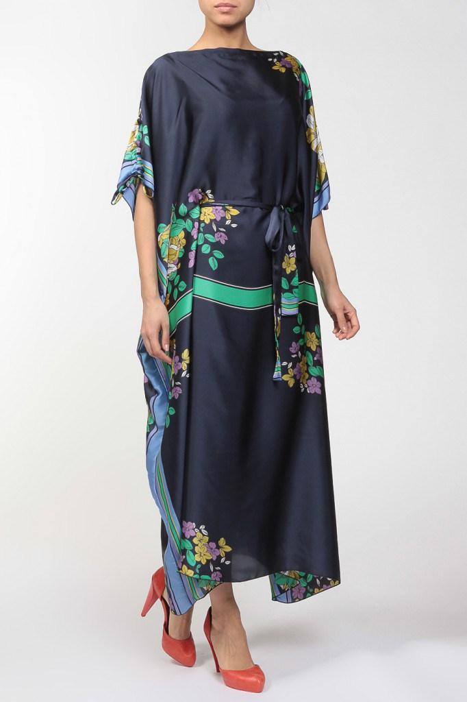 Темное летнее платье балахон