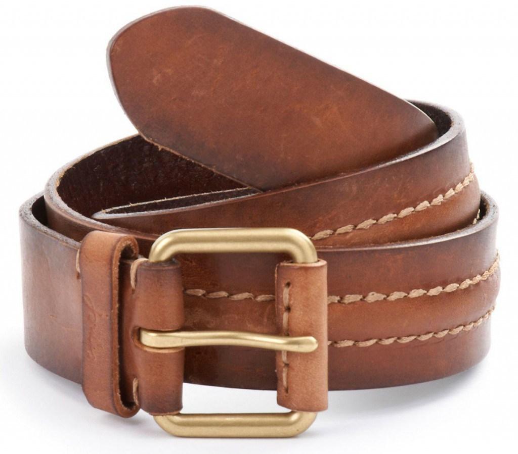 Повседневный коричневый мужской кожаный ремень