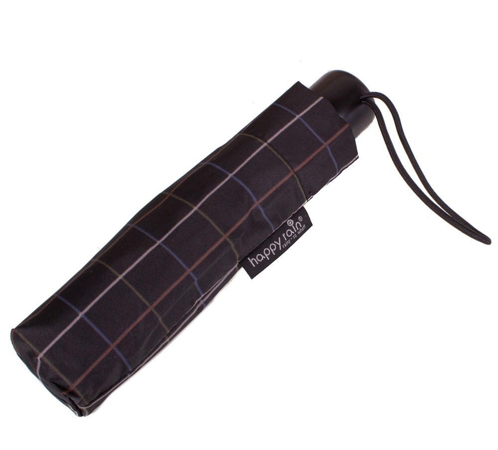 Складной клетчатый мужской зонт