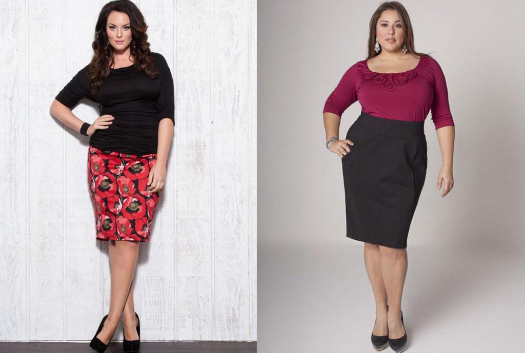 Красивые юбки для полных женщин