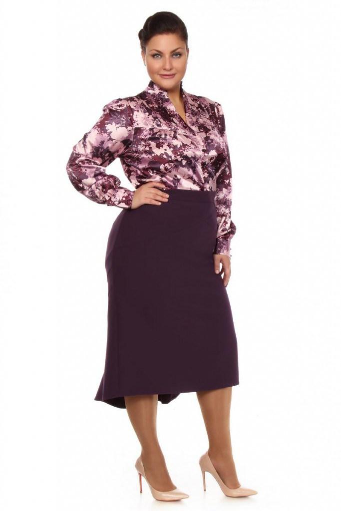 Фиолетовая юбка для полных женщин
