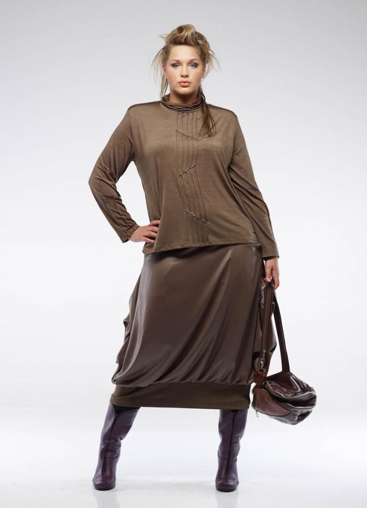 Свободная юбка для полных женщин