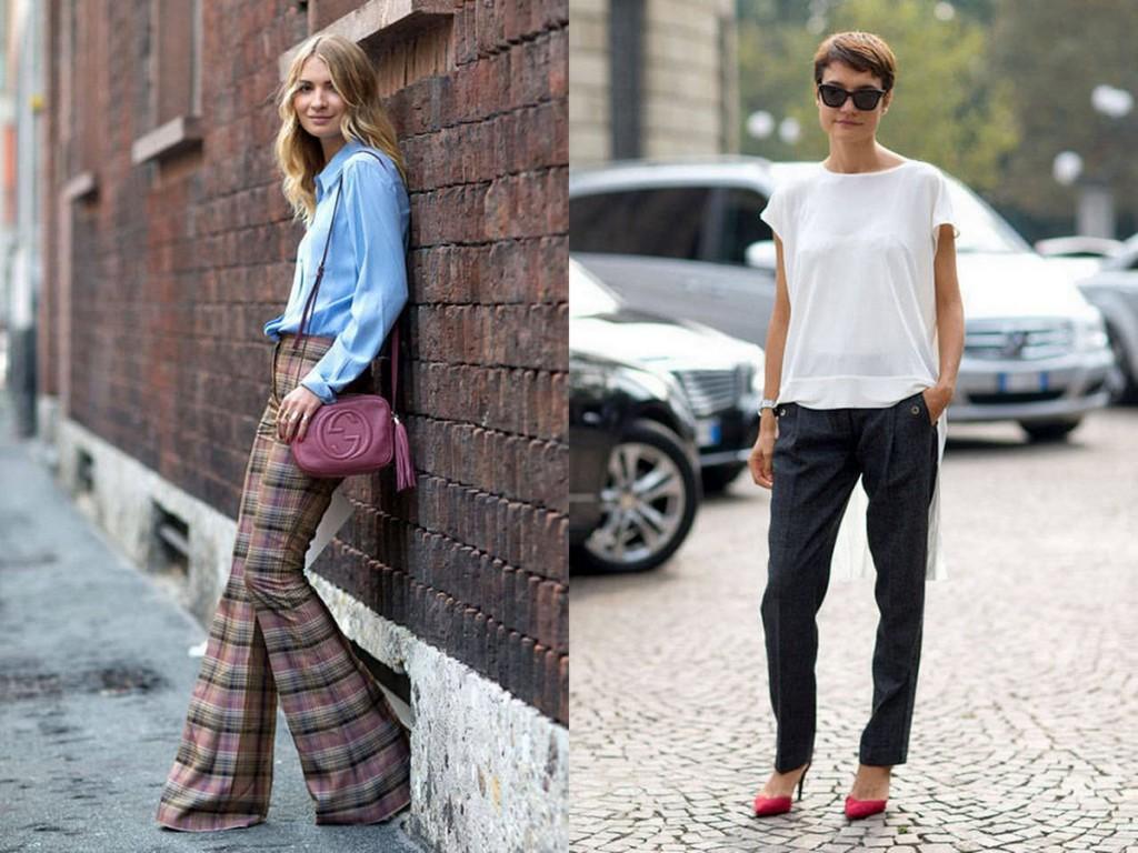Стильные летние уличные образы с брюками