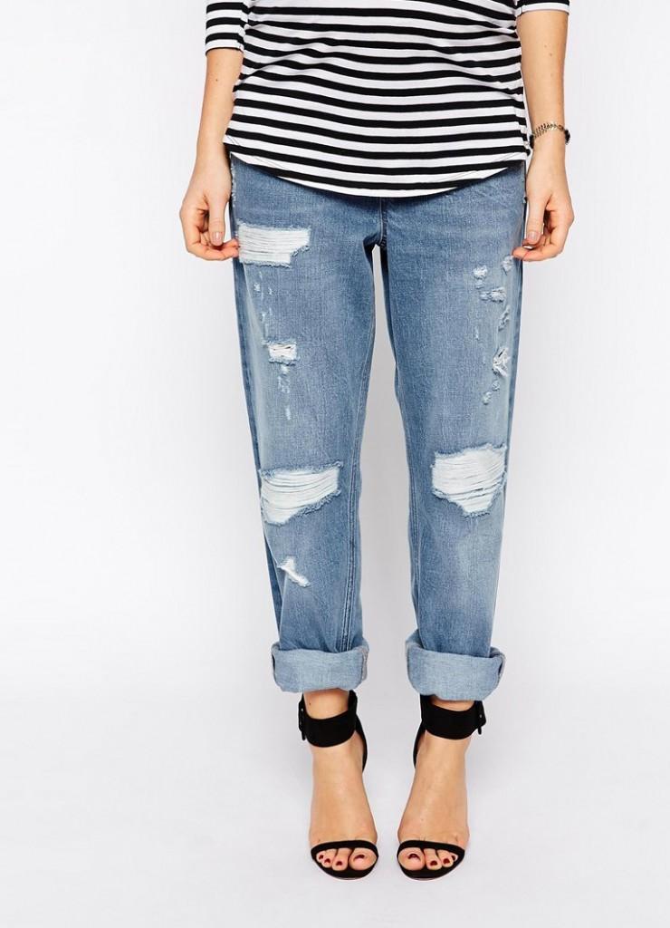 Модные джинсы для беременных женщин с боковыми вставками