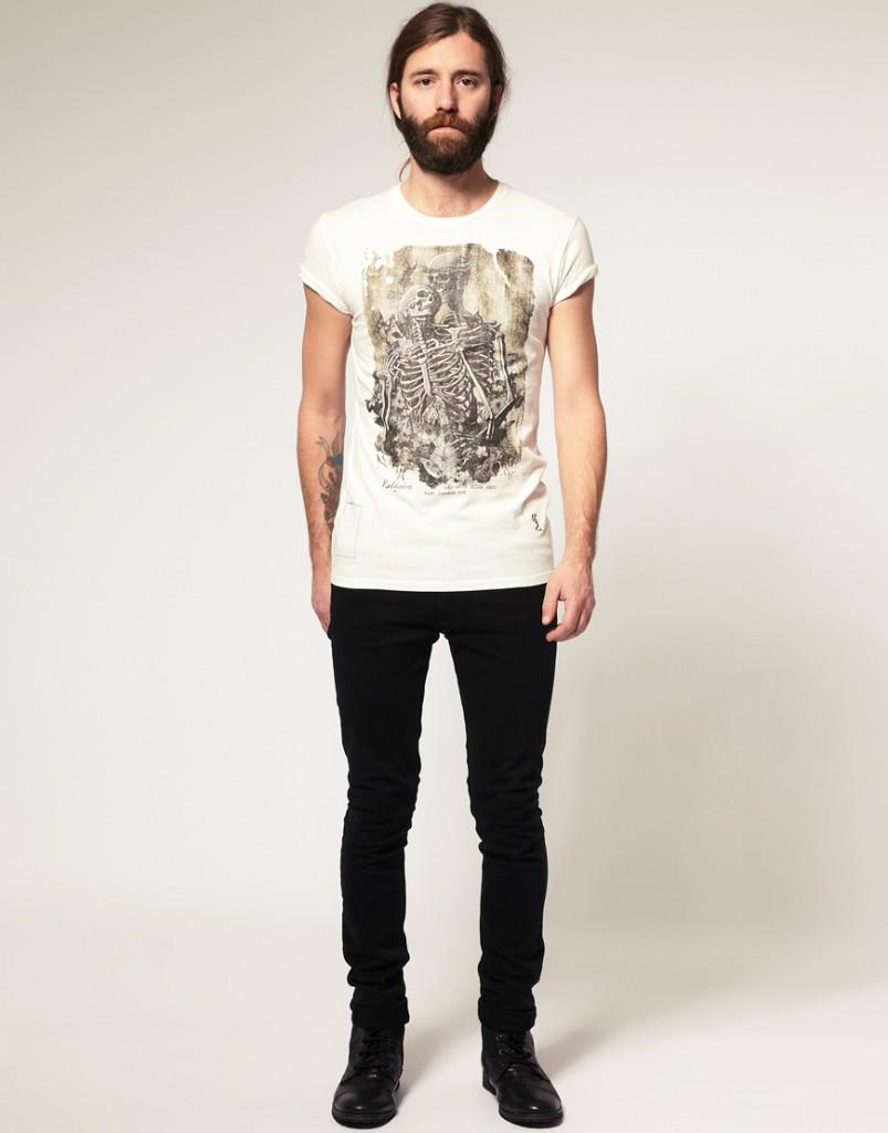 Модная мужская футболка с рисунком