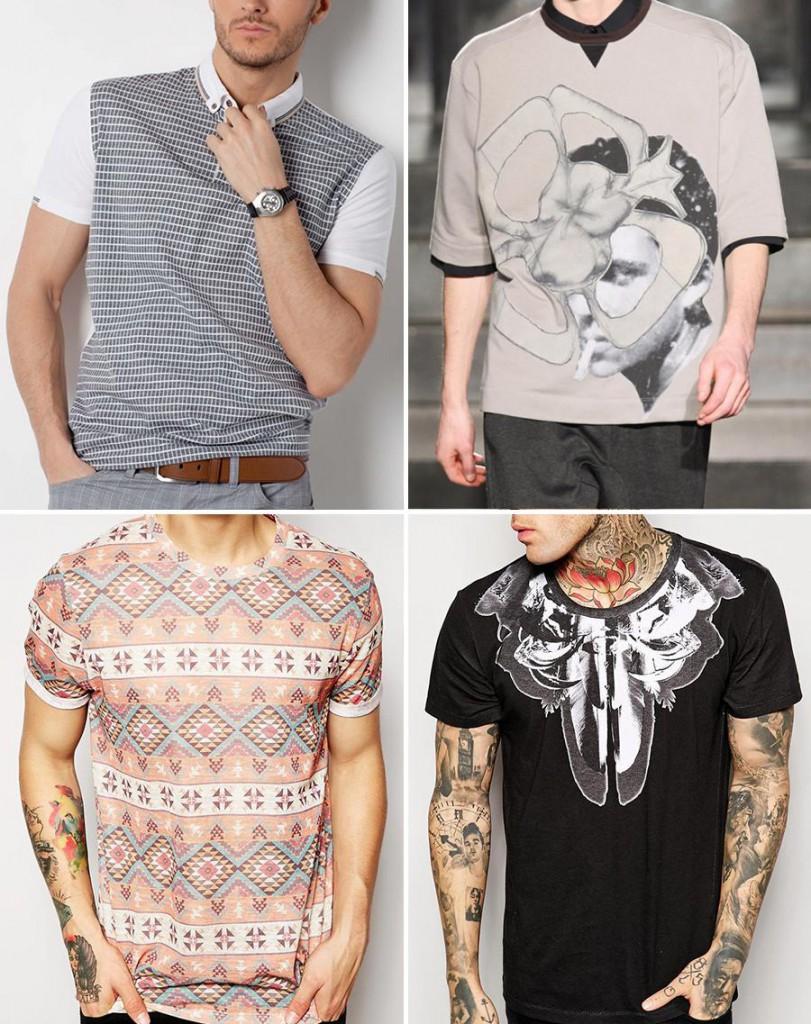 Модные мужские футболки в стиле бохо