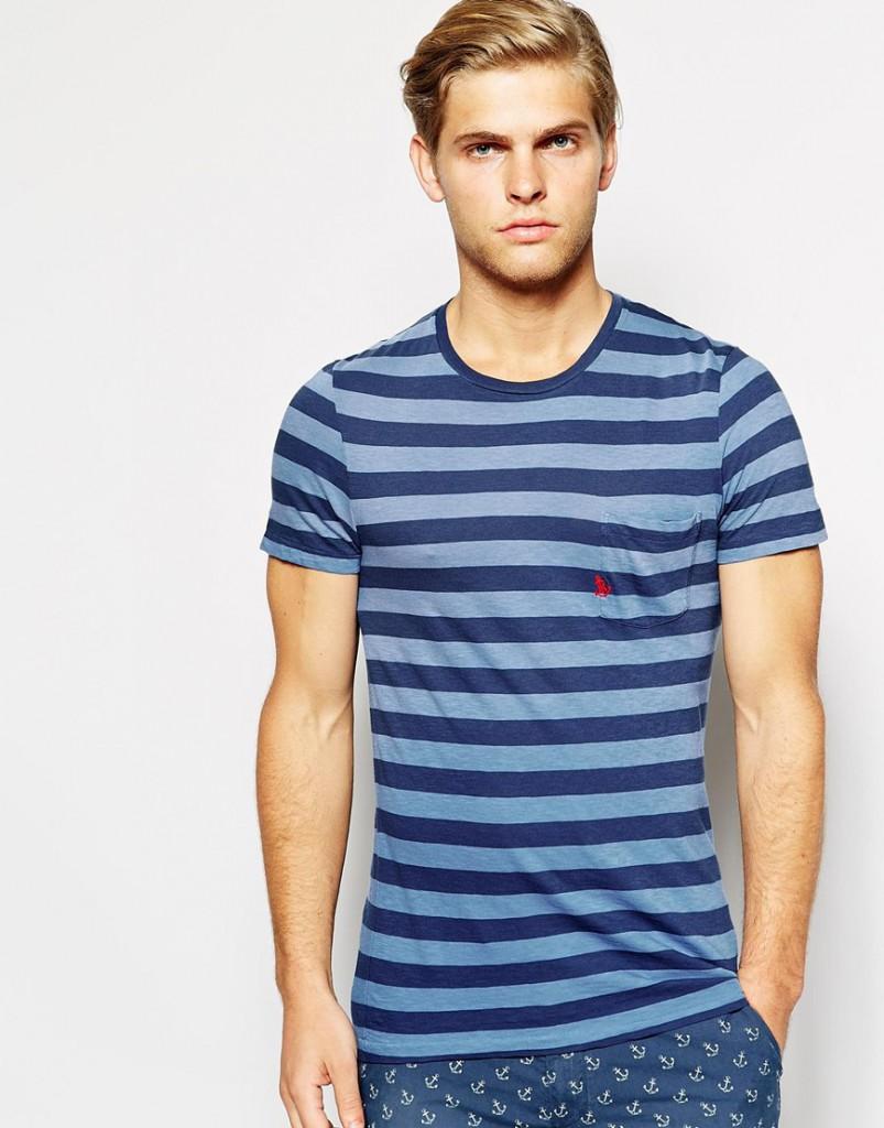 Полосатая мужская футболка