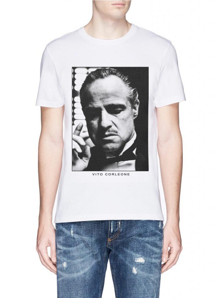 Модная мужская футболка с принтом