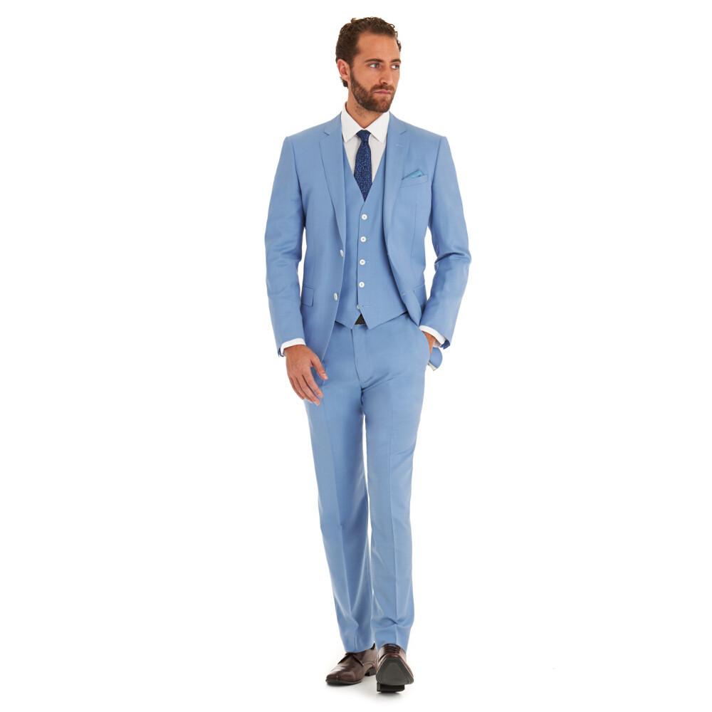 Модный голубой мужской костюм