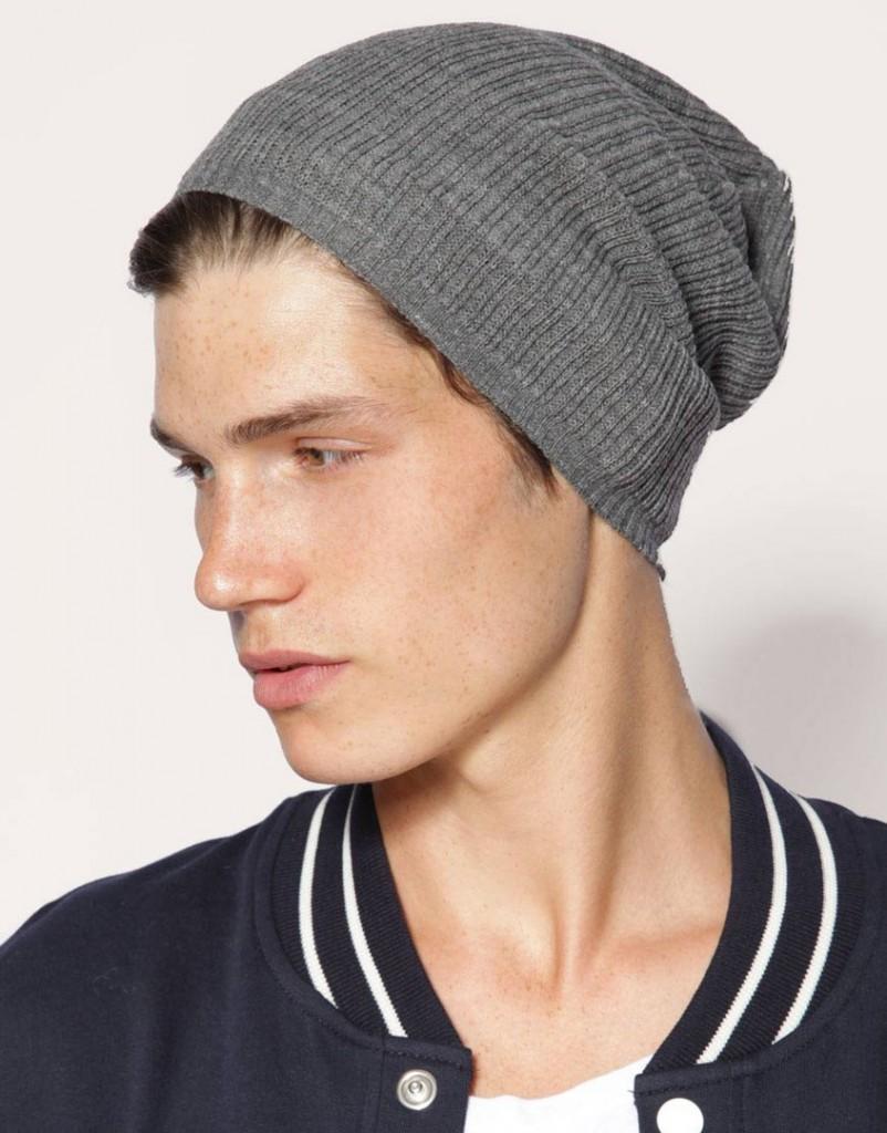 Стильная серая мужская шапка
