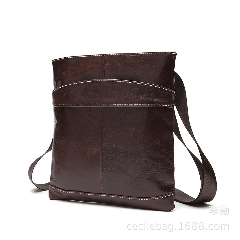 Мужская открытая кожаная сумка