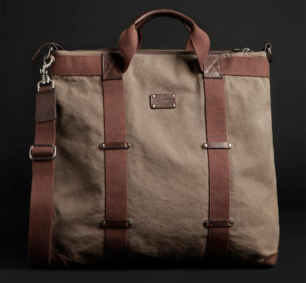 Модная мужская тканевая сумка