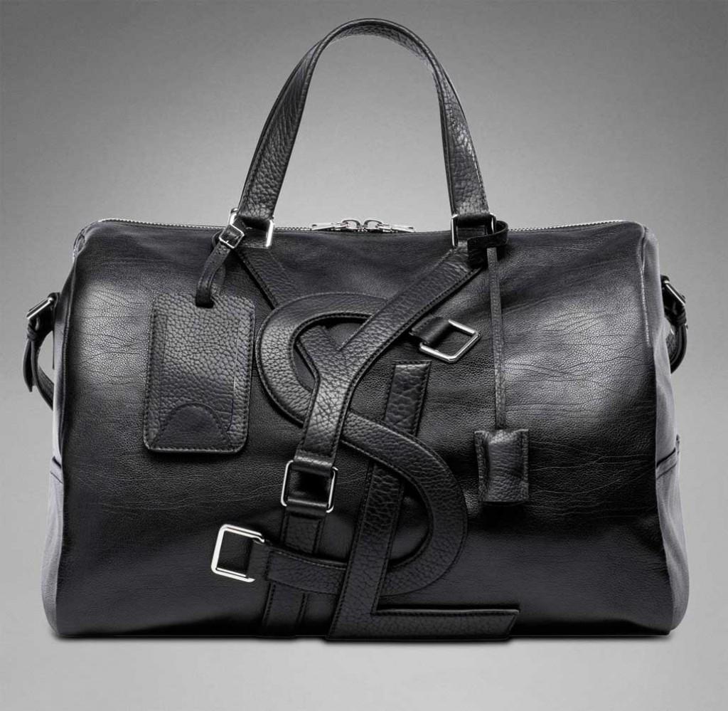 Стильная мужская черная сумка