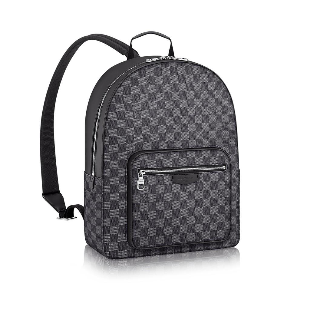 Стильный мужской рюкзак с принтом в клетку