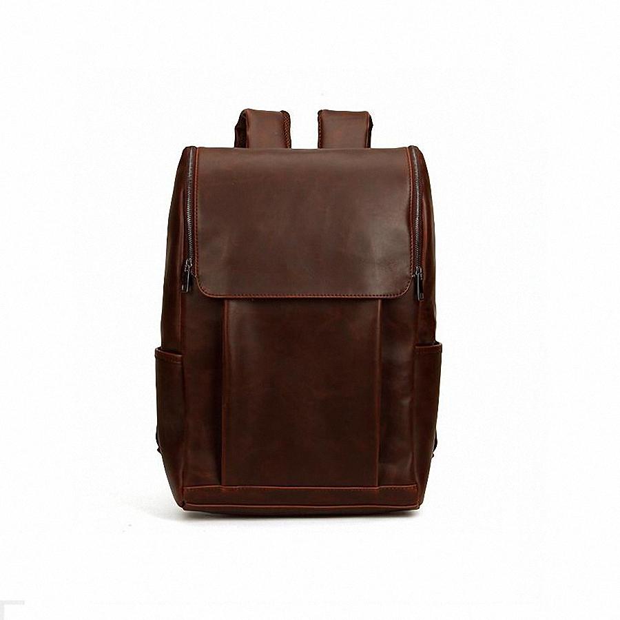 Стильный кожаный мужской рюкзак