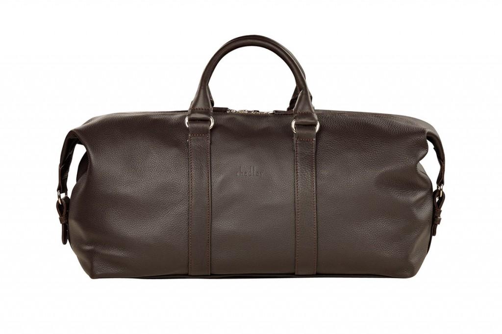 Большая мужская коричневая сумка