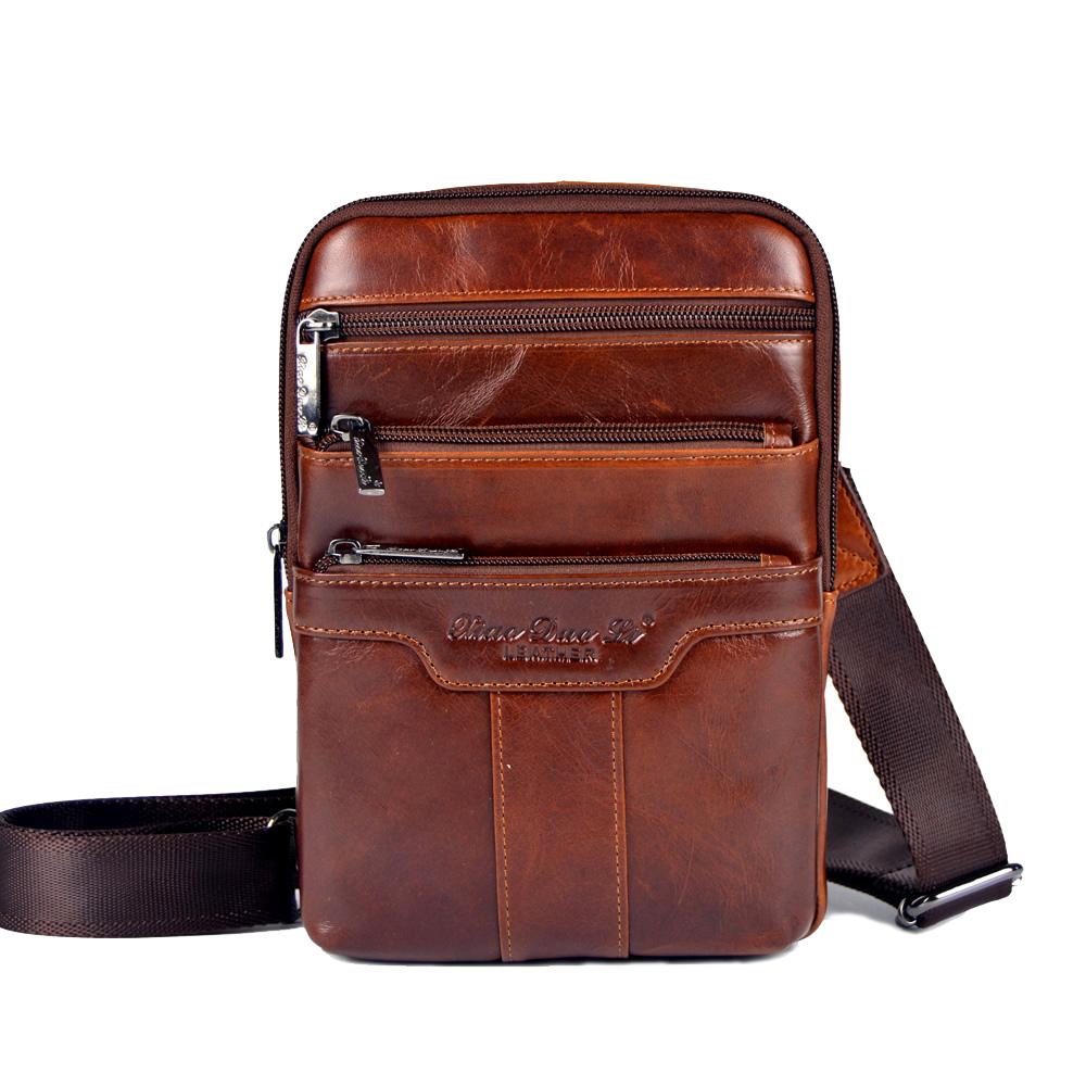 Мужская коричневая сумка почтальона
