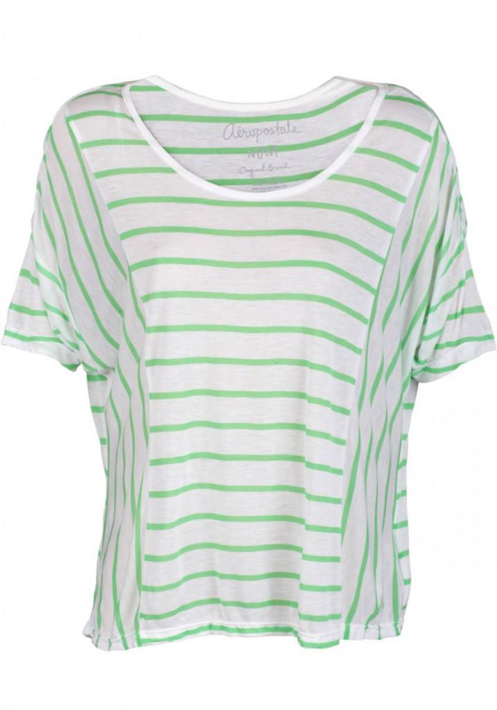 Женская светлая полосатая футболка