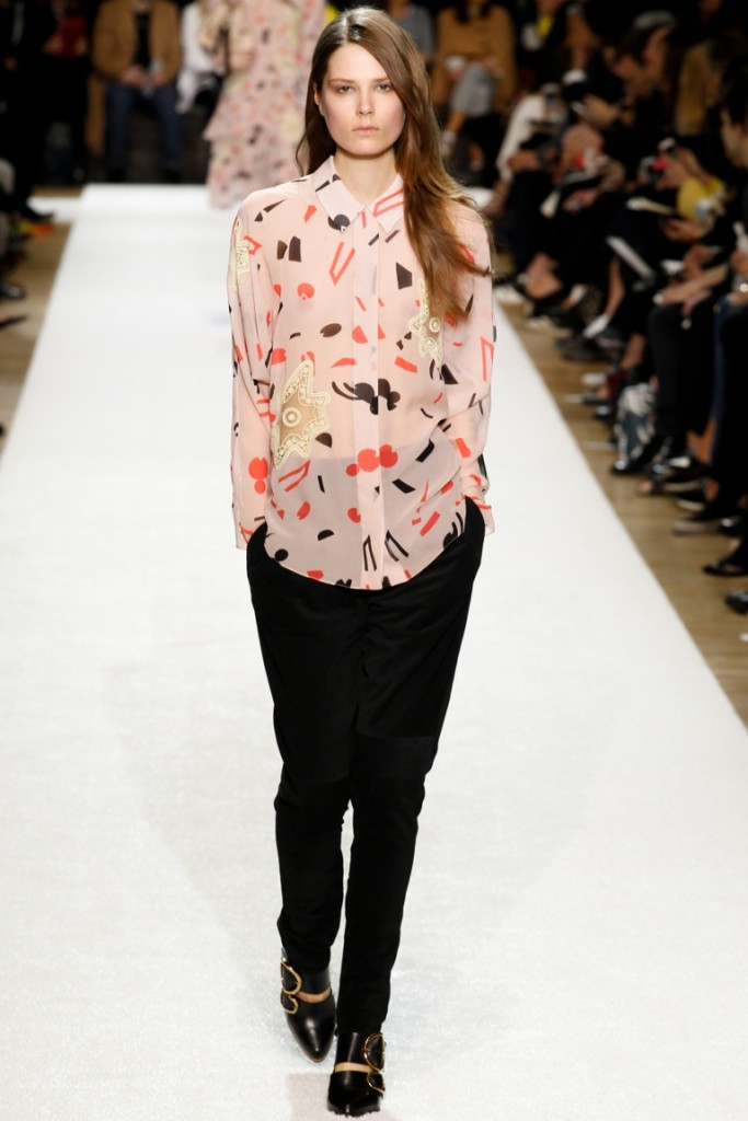 Женская полупрозрачная рубашка с принтом