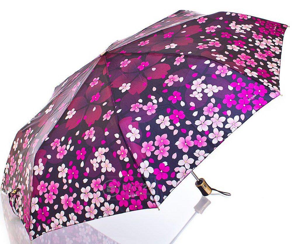 Женский зонт автомат в цветочек