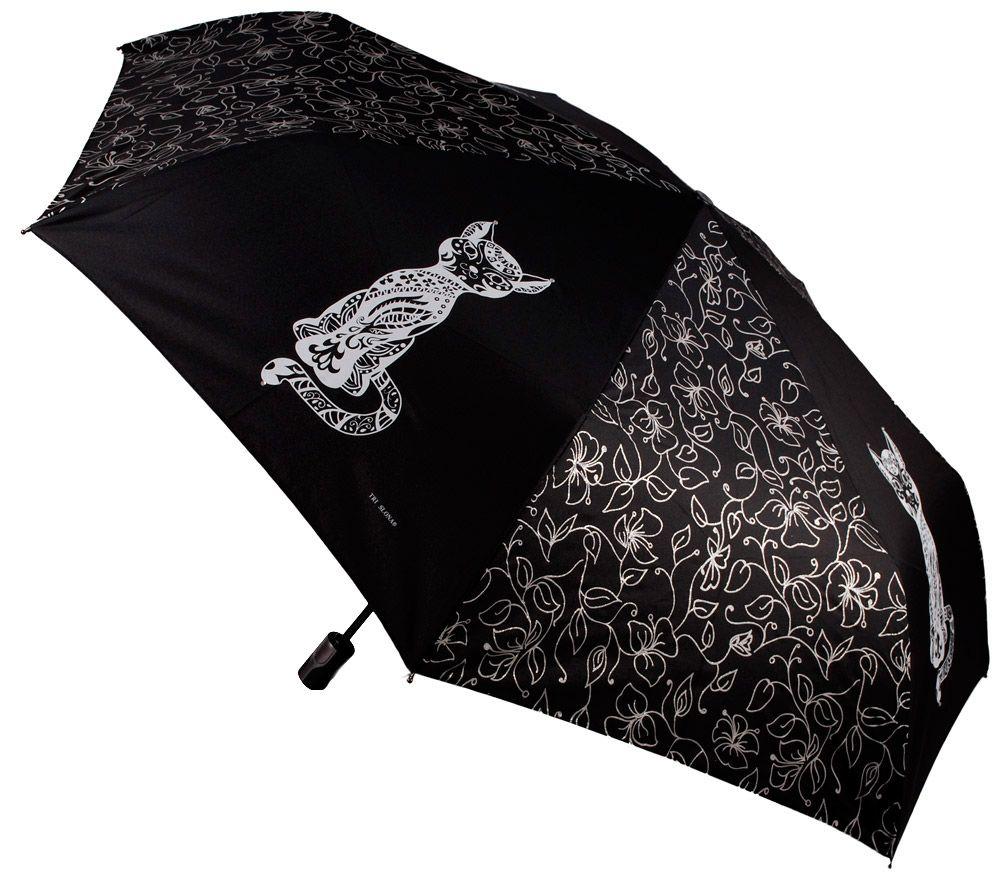 Женский зонт автомат с кошкой