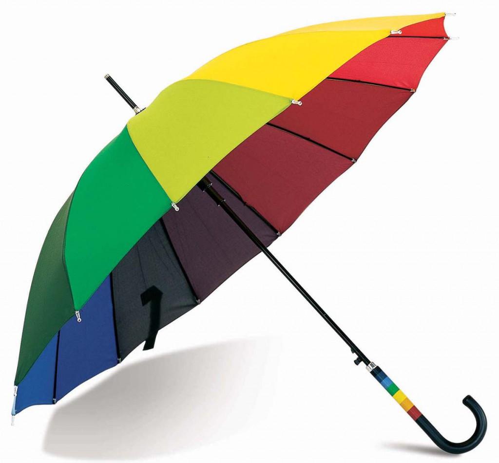 Женский качественный зонт радуга