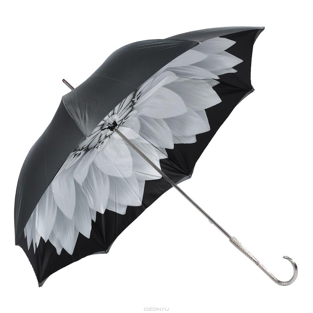 Женский зонт с изображением цветка внутри